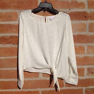 White with black polka dots Nordstrom long sleeve